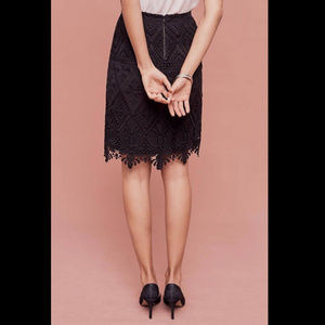 Anthropologie Skirts - Anthropologie Moulinette Soeurs Lace Pencil Skirt